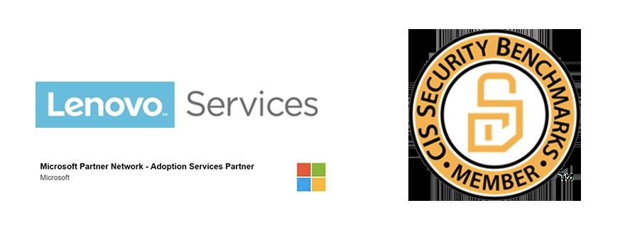 Lenovo microsoft partner logos