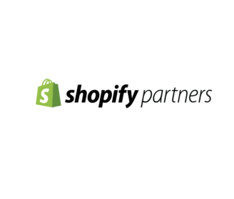 Shopify Partner Logo in green and black